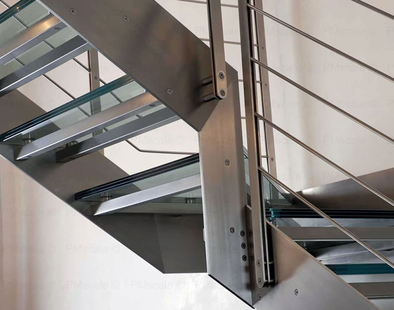 stainless steel stairs - italian design staircases