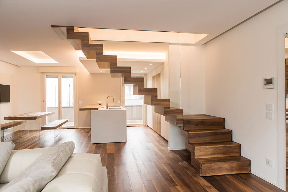 wood interior staircases