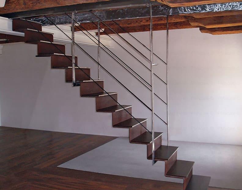 corten steel stairs